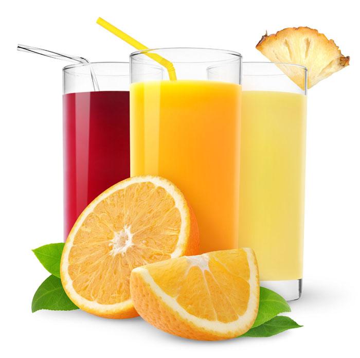 Succhi di frutta per la colazione di qualità