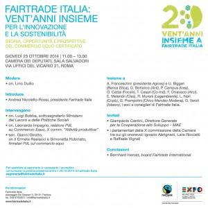Fairtrade Italia festeggia vent'anni