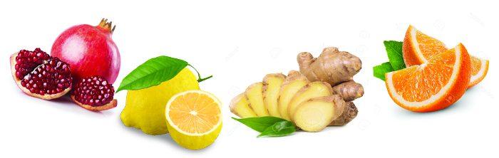 vegan mix 6 melograno limone arancio e zenzero